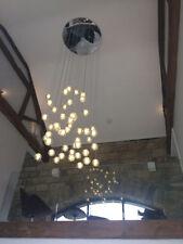 Plafonniers et lustres transparents sans marque en verre pour la maison