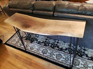 Black Walnut and resin console / sofa table, epoxy resin table.  Stunning!