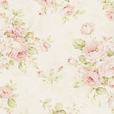 Dollhouse Miniature Computer Printed Floral Fabric Shabby Chic 12