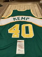 Shawn Kemp Autographed/Signed Jersey JSA COA Seattle Sonics Supersonics