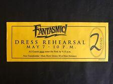 Disney Cast Member Only Disneyland Fantasmic Dress Rehearsal Ticket Numbered