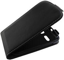 Alcatel One Touch Pop C5 5036 - Flip Case - Schwarz - Etui Hülle Flipcase Tasche