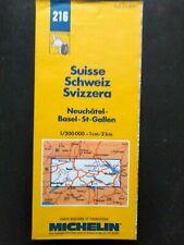 CARTE MAP MICHELIN N°214 SUISSE SCHWEIZ CENTRE 1997 - NEUVE - BASEL NEUFCHATEL