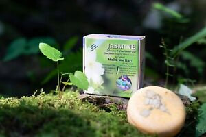 Jasmine Shampoo & Conditioner Bar - Nourishes Broken, Dried, & Dying hair.