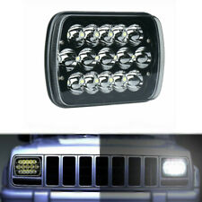"7X6"" 5X7"" LED Headlight Hi-Lo Beam Spot Lamp For Jeep Cherokee XJ Truck GMC Ford"