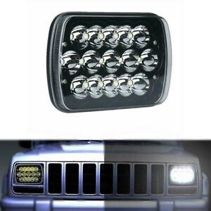 "7X6"" 5X7"" LED Headlight Hi-Lo Beam Spot Lamp For Jeep Cherokee XJ Truck GMC Ford"