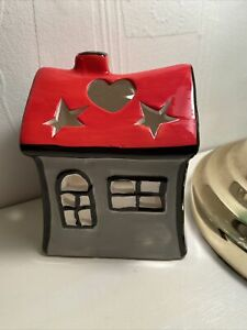 New Ceramic House T-Light Candle Holder