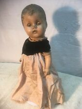 Early 1900s composition Antique Doll Haunting eys face 15in Tall Halloween