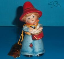 Jasco 1978 Merri-Bells Bisque Porcelain Christmas Boy with Drum Figurine