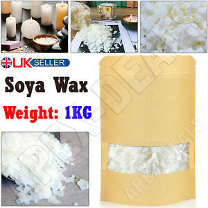 1KG Soy Wax Soya Flakes 100% Clean Burning Natural Pure Candle Making No Soot