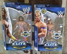 LOT OF 2 WWE HALL OF FAMER ULTIMATE WARRIOR ELITE 26 + LEX LUGER ELITE 30