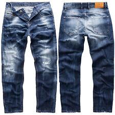 Rock Creek Herren Jeans Hose Regular Fit Herrenjeans Destroyed-Look RC-3104 NEU