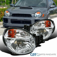 For 02-03 Subaru Impreza Outback WRX Clear Headlights Head Lamps Replacement Set