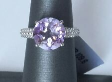 Size 6 3.60 cts Rose De France Amethyst Stering Silver Ring