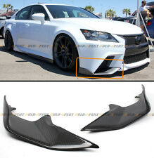 2 PC JDM CARBON FIBER FRONT BUMPER SPLITTERS LIP FOR 2013-15 LEXUS GS350 F SPORT