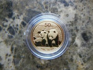 2010 1/10 Oz Gold Chinese Panda Coin 50 Yuan