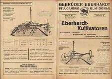 ULM DONAU, Werbung 1935, Pflug-Fabrik Gebrüder Eberhardt Kultivatoren Arnszinken