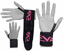 "EVO Ladies Weightlifting wrist Support Wraps 18"" Gym Straps Elasticated Bandages"