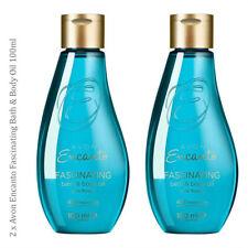 2 x  Avon Encanto Fascinating Bath & Body Oil // vitamin E & Avocado Bergamot