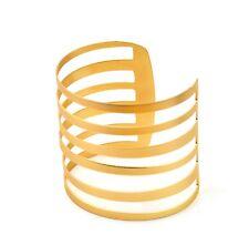 Gold Bangle Bracelet Open Ended Cuff UK