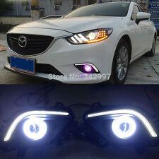 2x LED Daytime Fog Lights Projector angel eye kits For Mazda 6 Atenza 2013-2016