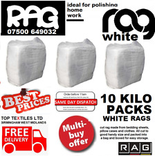 More details for 10kg bag white cotton mix cleaning rags wipers ideal for wood, metal, glass