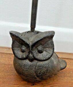 Cast iron Owl door stop handle Rustic aged style Doorstop Back saver UK SELLER