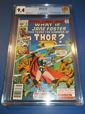 What If? #10 Bronze age 1st Jane Foster Thor Key CGC 9.4 NM Beauty Wow