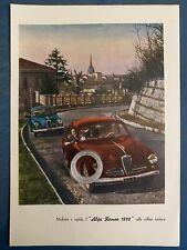 Rarissima Pubblicita' ALFA ROMEO 1900 sulla collina torinese 1951