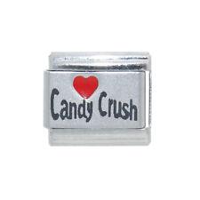 Love Candy Crush laser 9mm Italian charm - fits 9mm classic Italian bracelets