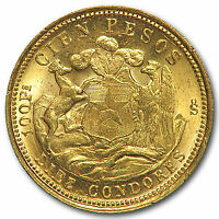 1926 Chile Gold 100 Pesos BU - SKU#43751