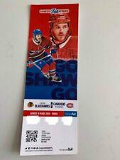unused season hockey tickets Canadiens featuring Andrew Shaw march 16  2018/2019