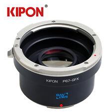 Kipon Optic Adapter Focal Reducer for Pentax 67 Lens to Fuji GFX Medium Camera
