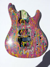 "Replacement Guitar Body for Ibanez JS - Custom Painted - ""Gumball Wall"""