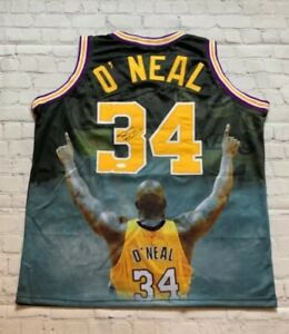 Shaquille O'Neal Autographed Pro Style Los Angeles Basketball Jersey (JSA)