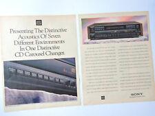 SONY CDP-C87ES / Advert Reklame Publicidad Pubblicita CD Changer ES Series DSP