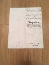Vellum Indenture 1921 Assignment Of Leasehold Dwelling Nicholson St. Warrington