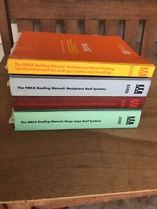 Lot Of 4 NCRA Roofing Manuals 2014-2017