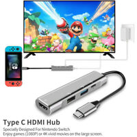 USB C Hub Type C 3.1 Adapter Dock with 4K HDMI For MacBook,Nintendo Switch Game