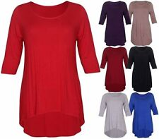 Viscose 3/4 Sleeve Plus Size Tops for Women