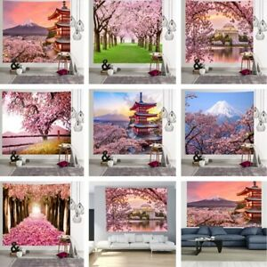 Printed Scenery Tapestry Blanket Hanging Cloth Beach Towel Wall Background Decor