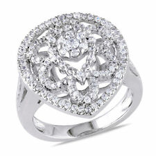 Fashion Cocktail Ring 1.37 Ct Tw White Goldplated Sterling Silver Cubic Zirconia