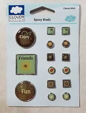 Cocoa Mint Epoxy Brads Fiskars Cloud Nine