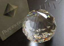 Mib vtg 60mm Swarovski Round Ball Paperweight Crystal Cal / Vm Vitrail 12602 Box