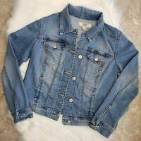 VINTAGE AMERICA BLUES Soft Stretch Light Wash Denim Jacket Size Small EUC