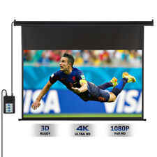 Motorised 100'' 16 9 1080p HD Projector Projection Screen for Home Cinema Remote
