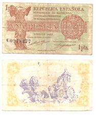 UNA PESETA  REPUBLICA ESPAÑOLA EMISION 1937 SERIE C      ( MB12227 )