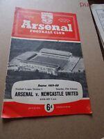 Arsenal v Newcastle Div 1 Feb 27th 1960