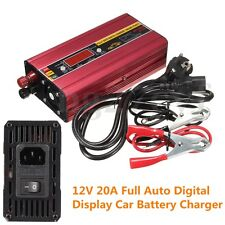 12V 20A Smart Car Motorcycle Battery Charger & Engine Jump Starter Digital Auto