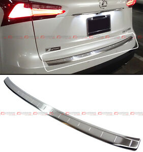 FOR: 15-2020 LEXUS NX200t NX BRUSHED STEEL REAR BUMPER SILL TRIM PROTECTOR COVER